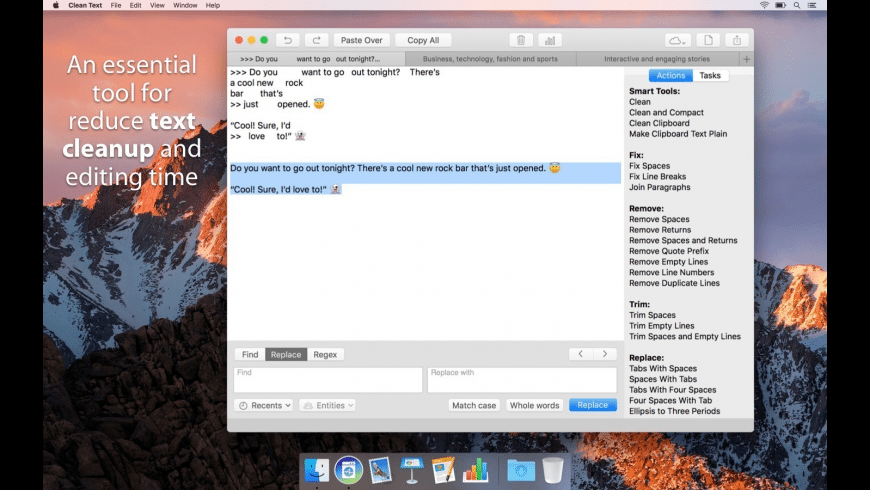 Clean Text for Mac - review, screenshots