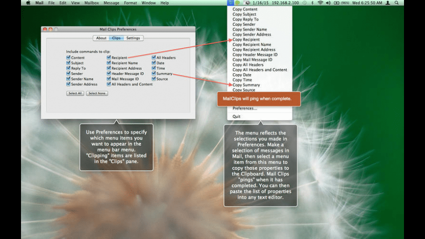 Mail Clips for Mac - review, screenshots