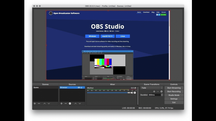 OBS Studio for Mac - review, screenshots