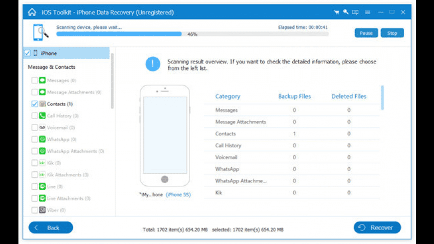 AnyMP4 iPhone Data Recovery for Mac - review, screenshots