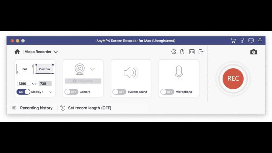AnyMP4 Screen Recorder for Mac - review, screenshots