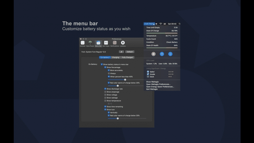 Wattagio for Mac - review, screenshots