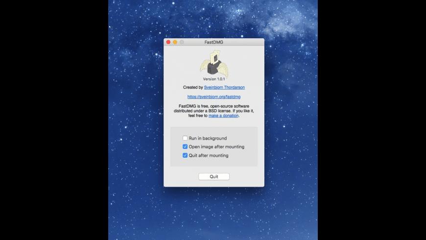 FastDMG for Mac - review, screenshots