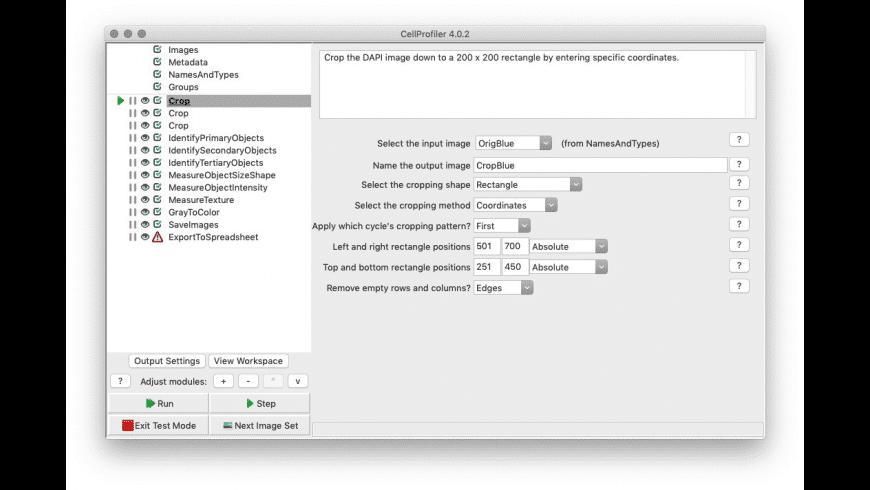 CellProfiler for Mac - review, screenshots