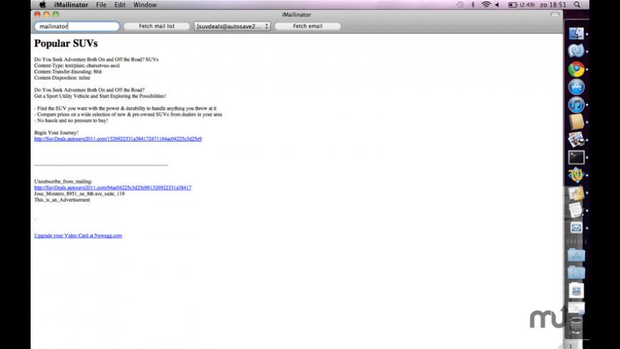 iMailinator for Mac - review, screenshots