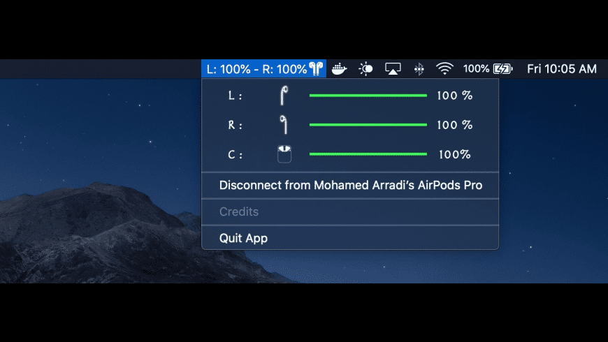 AirPods Battery Monitor for Mac - review, screenshots