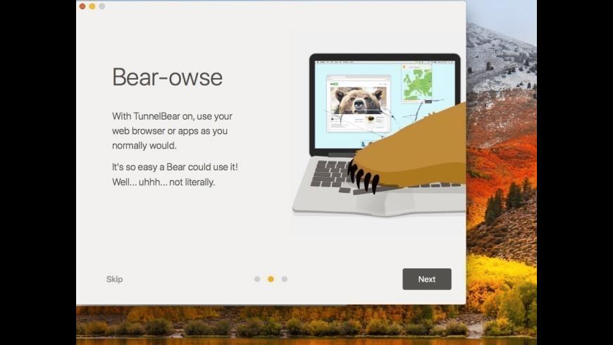 TunnelBear for Mac - review, screenshots