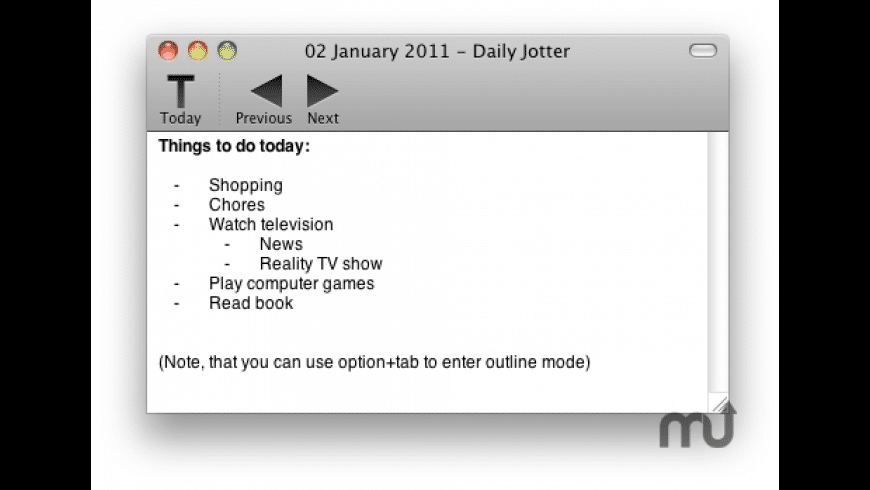 Daily Jotter for Mac - review, screenshots