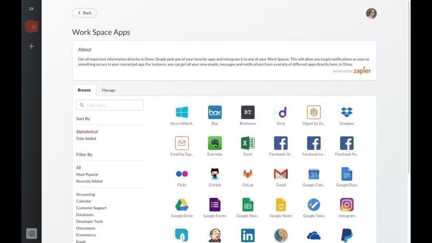 Otixo for Mac - review, screenshots