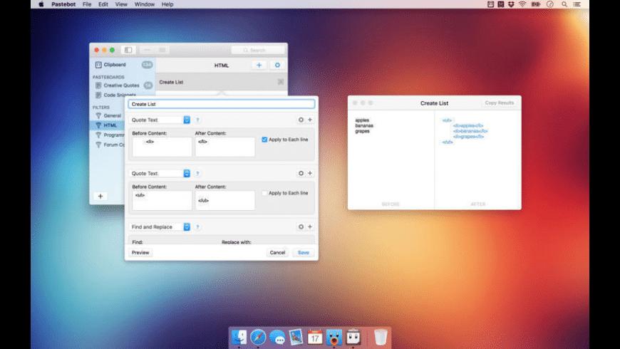 Pastebot for Mac - review, screenshots