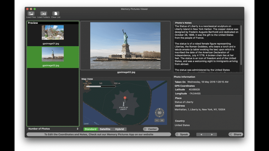 Memory Pictures Viewer for Mac - review, screenshots