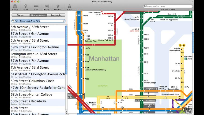 New York Subway for Mac - review, screenshots