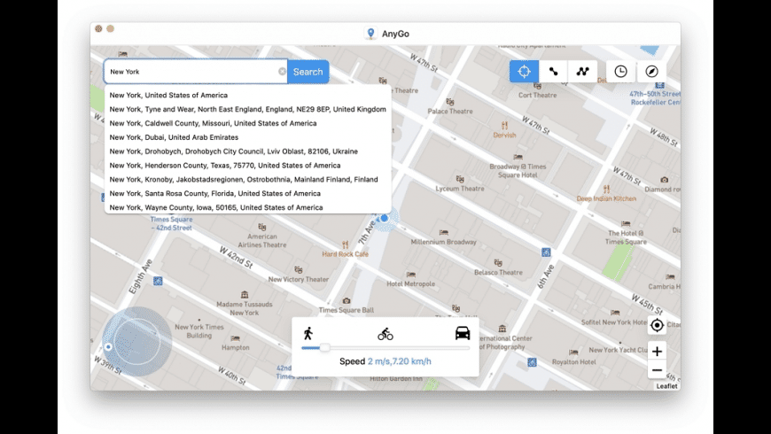 AnyGo for Mac - review, screenshots