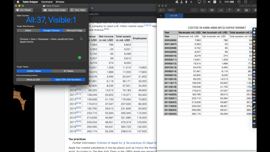 Table Dripper for Mac - review, screenshots