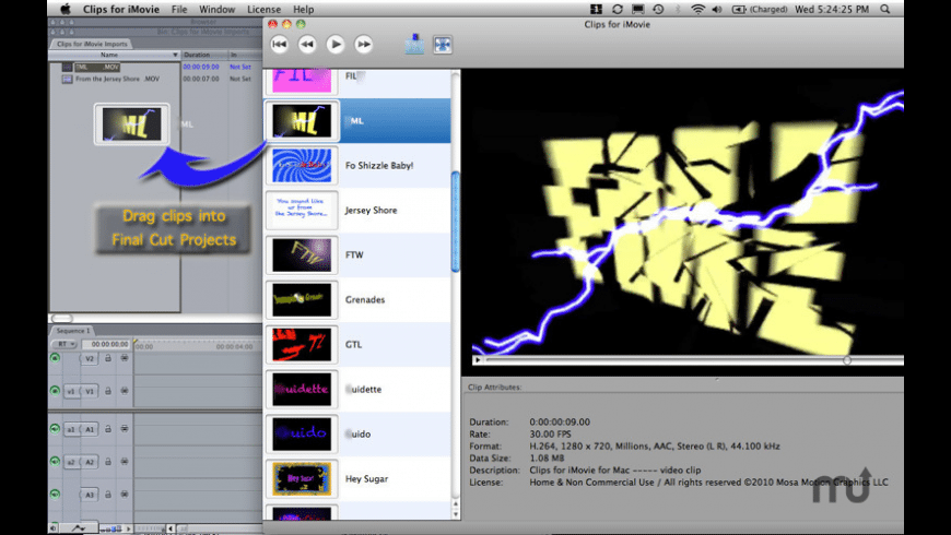 Clips for iMovie for Mac - review, screenshots