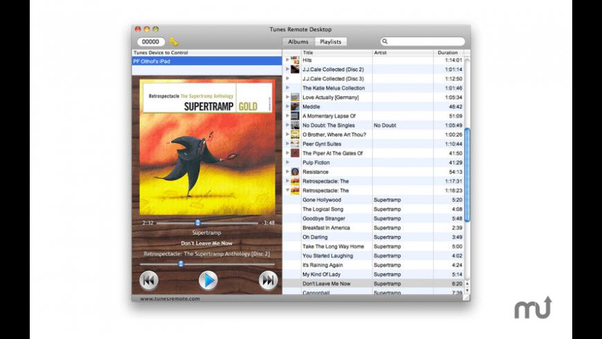 Tunes Remote Desktop for Mac - review, screenshots
