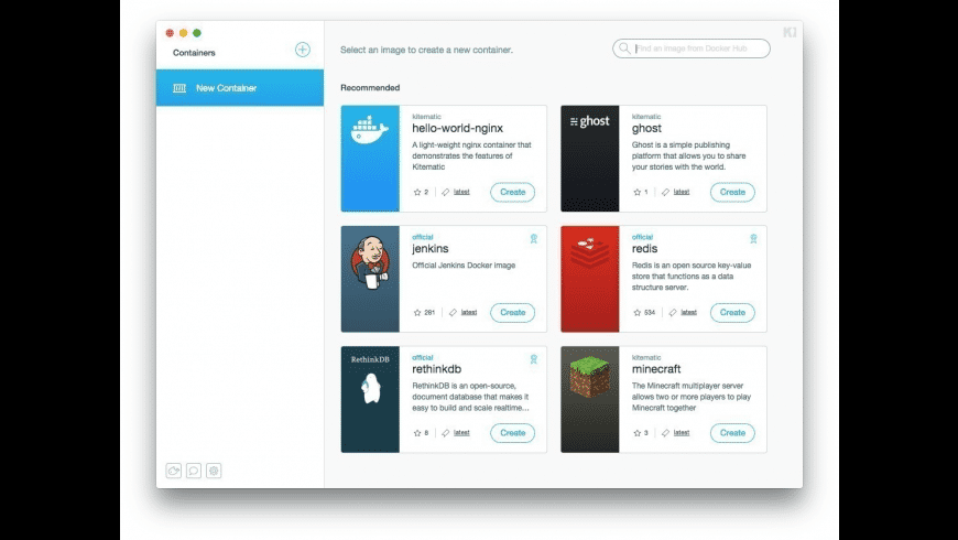 Kitematic for Mac - review, screenshots
