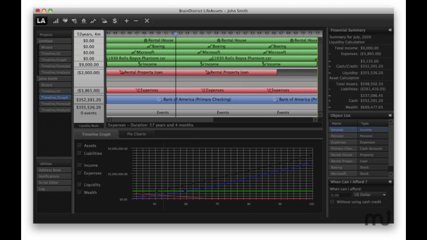 LifeAssets for Mac - review, screenshots