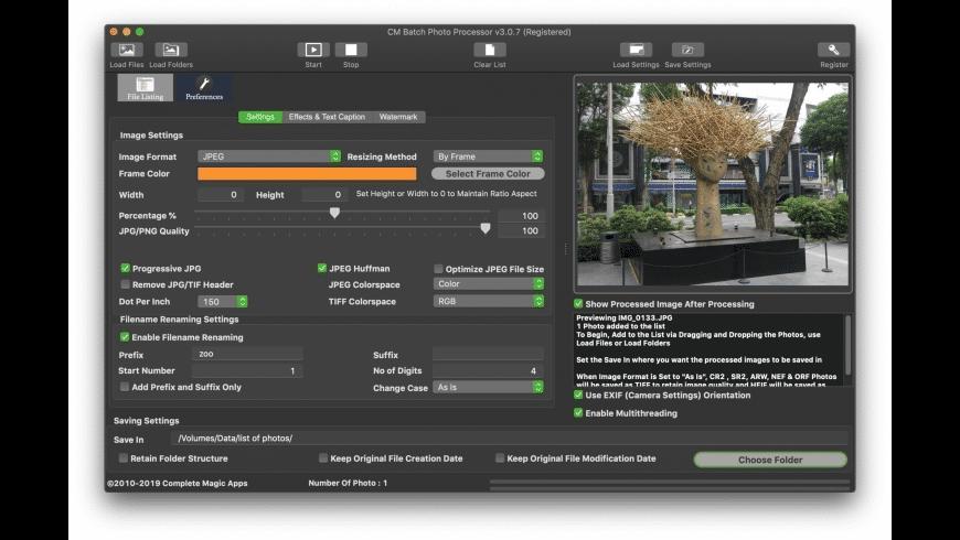 CM Batch Photo Processor for Mac - review, screenshots
