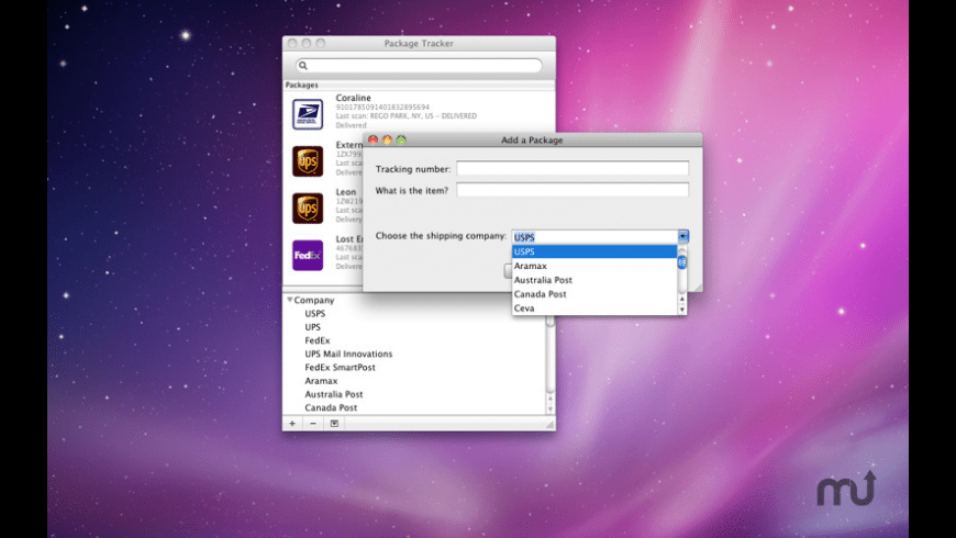 Package Tracker for Mac - review, screenshots