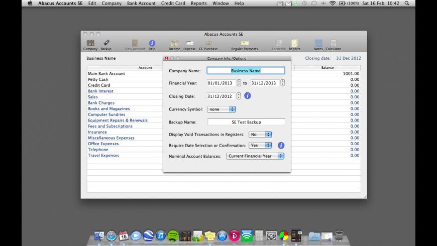 Abacus Accounts SE for Mac - review, screenshots