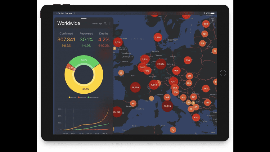 Corona Tracker for Mac - review, screenshots