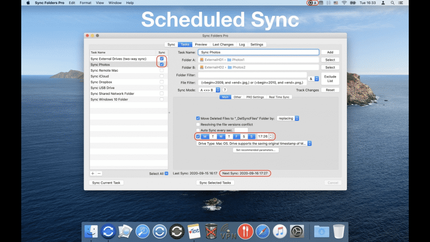 Sync Folders Pro for Mac - review, screenshots