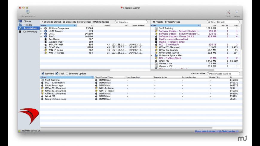 FileWave for Mac - review, screenshots