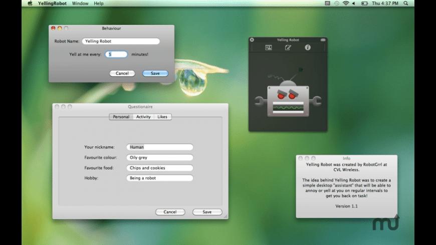 Yelling Robot for Mac - review, screenshots