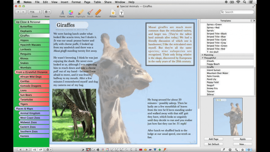 Growly Notes for Mac - review, screenshots