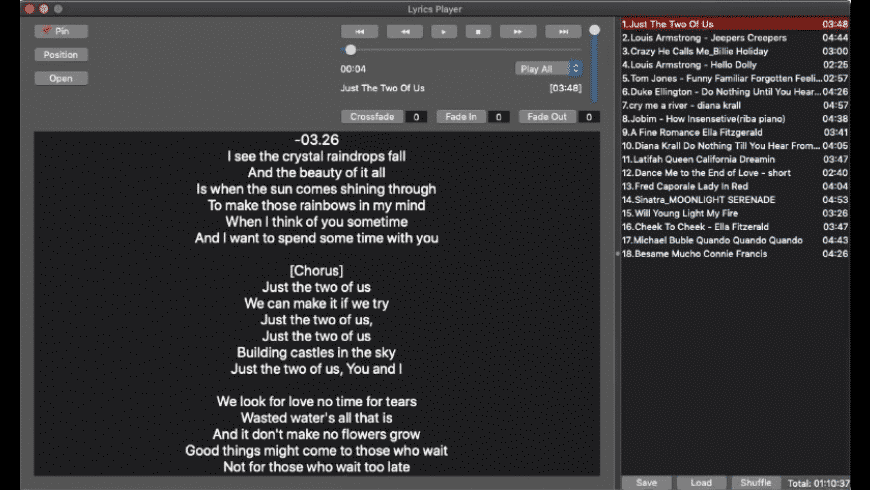 LyricsPlayer for Mac - review, screenshots