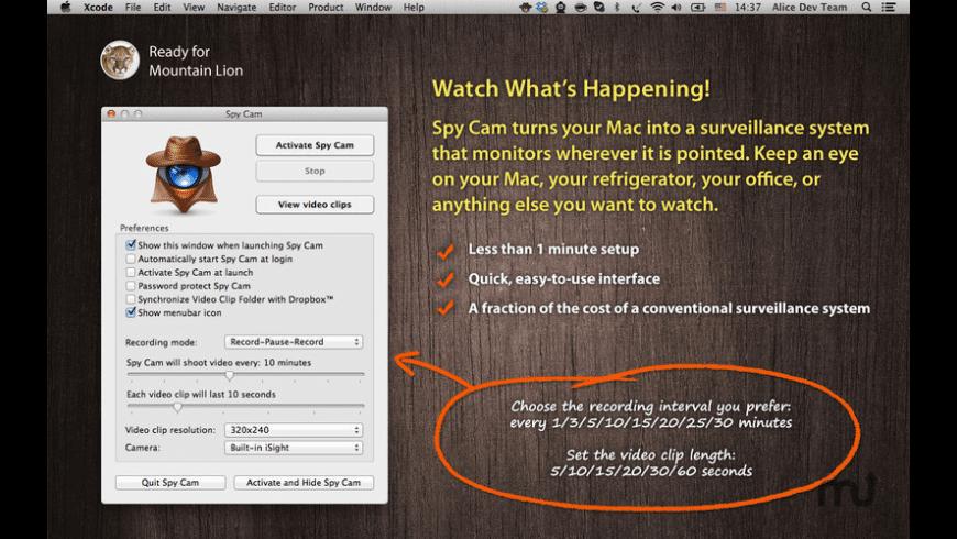 Spy Cam for Mac - review, screenshots