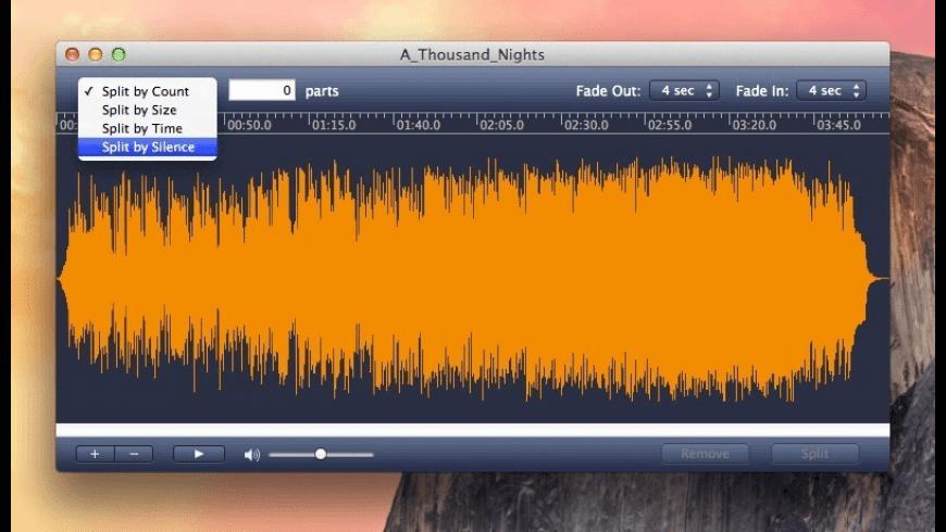 MP3 Splitter for Mac - review, screenshots