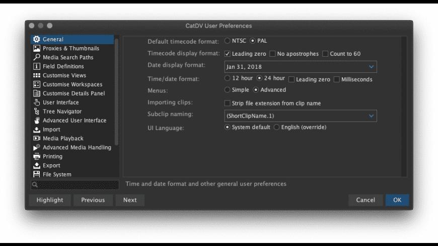 CatDV Pegasus for Mac - review, screenshots