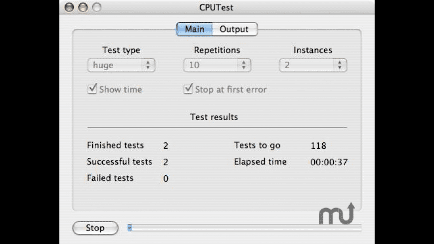CPUTest for Mac - review, screenshots