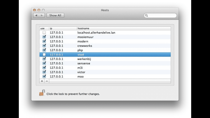 Hosts for Mac - review, screenshots