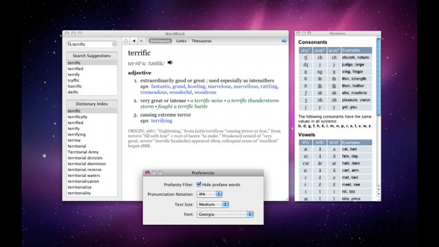 WordBook for Mac - review, screenshots