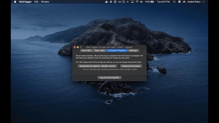 Mick Tagger for Mac - review, screenshots
