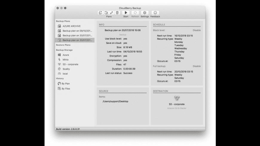 CloudBerry Backup for Mac - review, screenshots