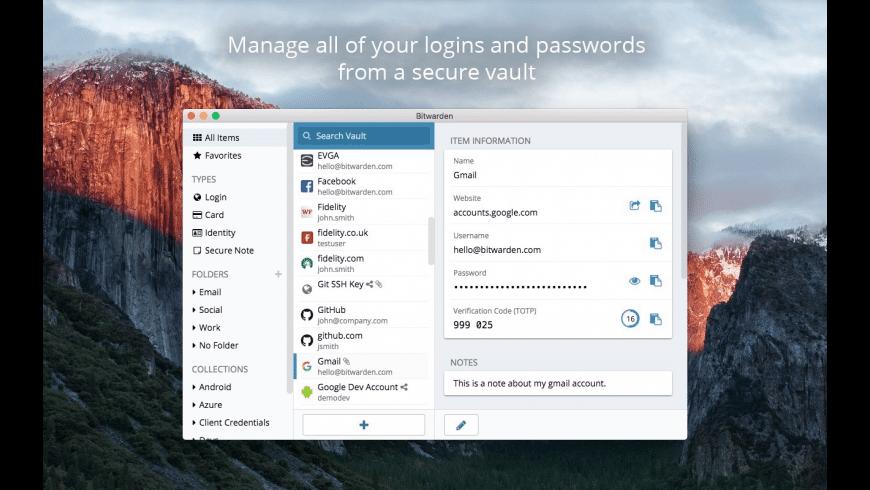 Bitwarden for Mac - review, screenshots
