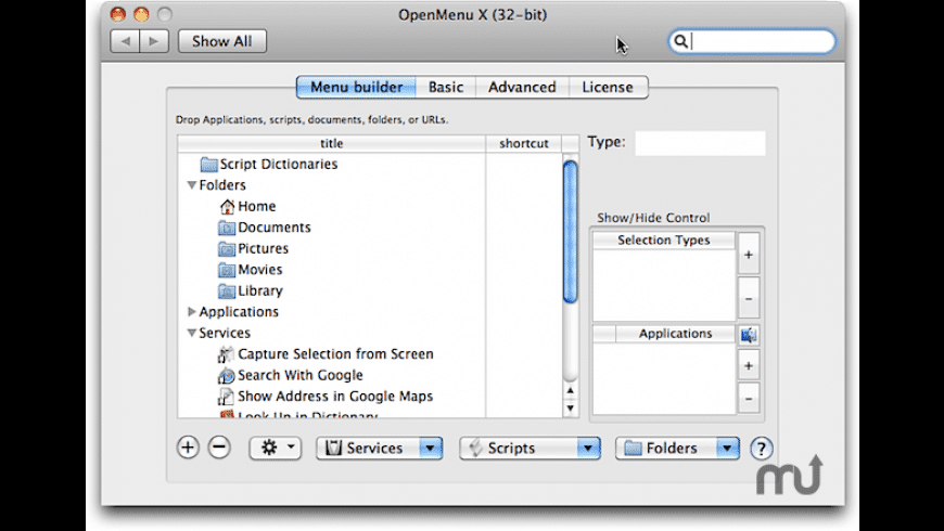OpenMenu X for Mac - review, screenshots