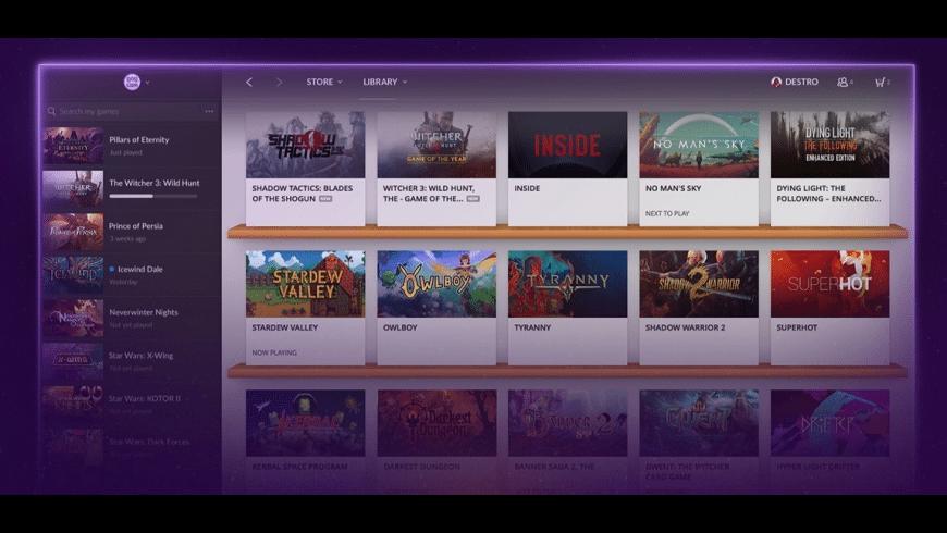 GOG Galaxy for Mac - review, screenshots