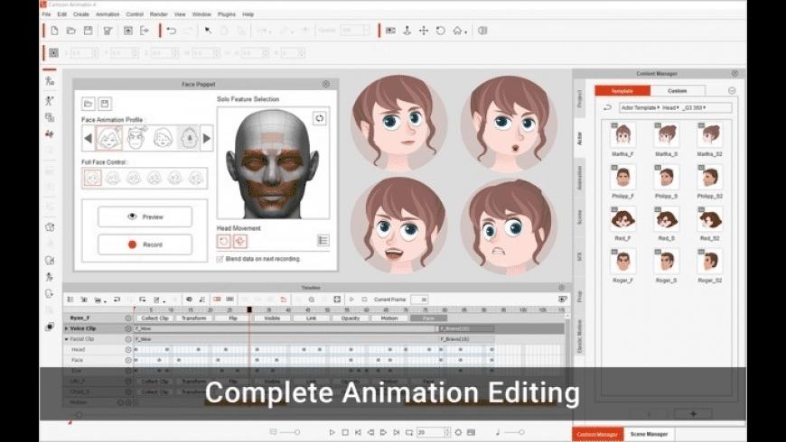 Cartoon Animator 4 for Mac - review, screenshots