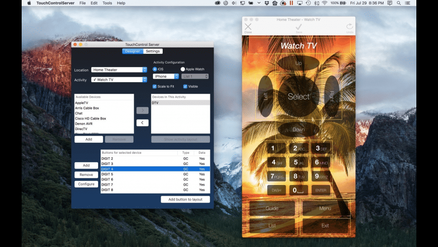 TouchControl Server for Mac - review, screenshots