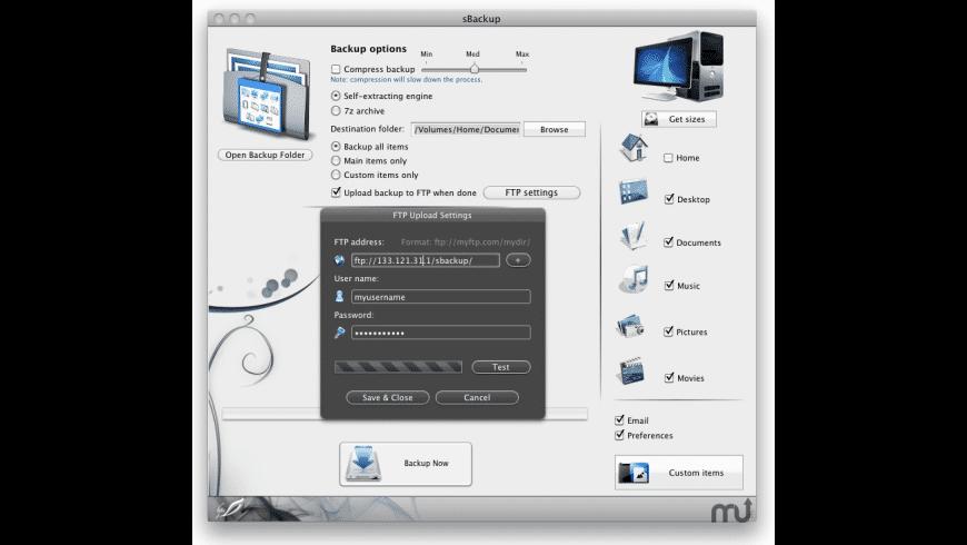 sBackup for Mac - review, screenshots