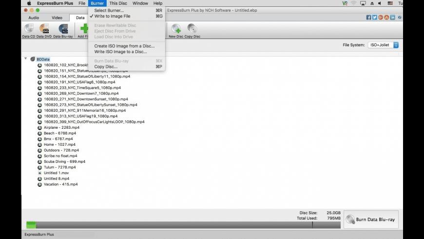 Express Burn for Mac - review, screenshots