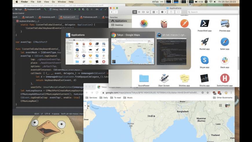 AltTab for Mac - review, screenshots