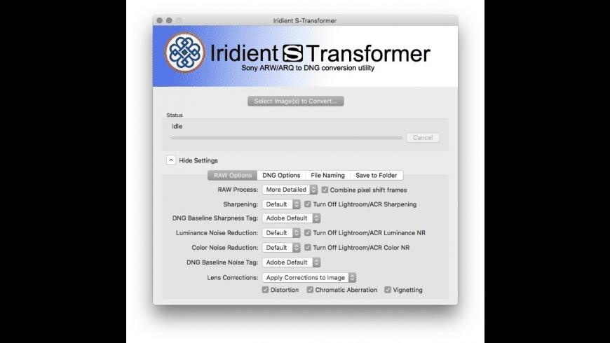 Iridient S-Transformer for Mac - review, screenshots