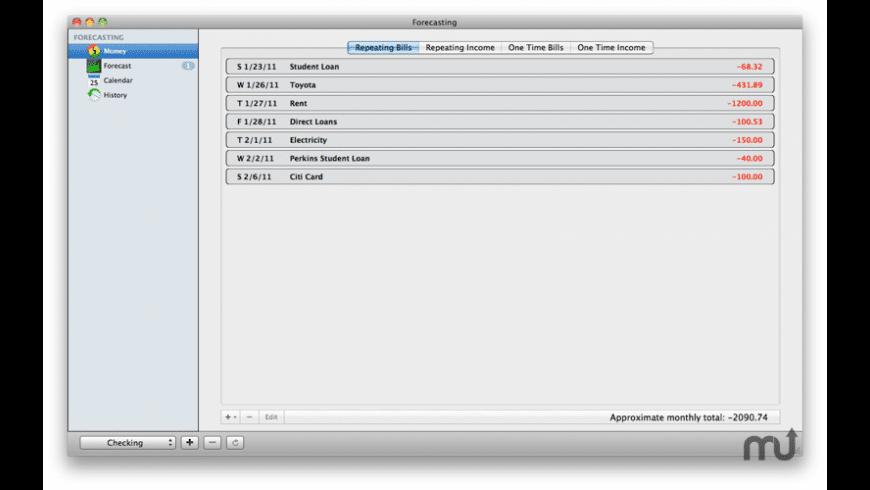 Balance Forecasting for Mac - review, screenshots