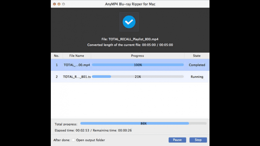 AnyMP4 Blu-ray Ripper for Mac - review, screenshots